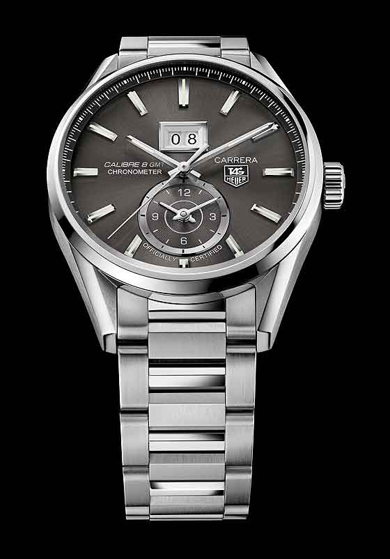TAG Heuer Carrera Calibre 8 Grande Date GMT - anthracite dial/bracelet
