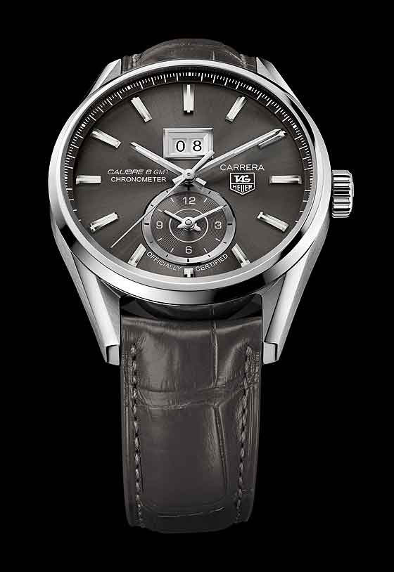 TAG Heuer Carrera Calibre 8 Grande Date GMT - anthracite dial/strap