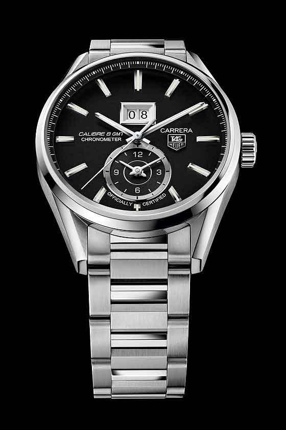 TAG Heuer Carrera Calibre 8 Grande Date GMT - black dial/bracelet