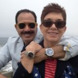 Hank Cominiello and Pamela Young celebrate July 4, 2013 at Half Moon Bay, CA. Hank is wearing a blue dial titanium Courm Admirals Cup Competition 48 and Pamela is wearing her Tourneau TNY 35.
