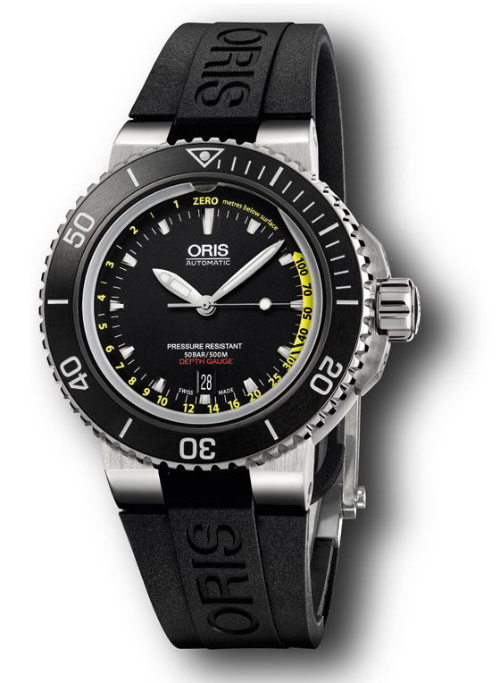 watch insider s top 10 affordable watches for men › page 3 oris aquis depth gauge