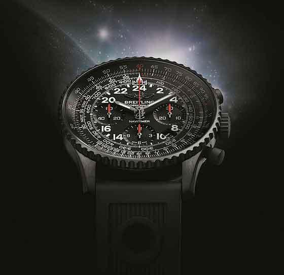www.watchtime.com | watch to watch  | Breitling Navitimer Cosmonaute Blacksteel | Breitling Navitimer Cosmonaute Blacksteel 560