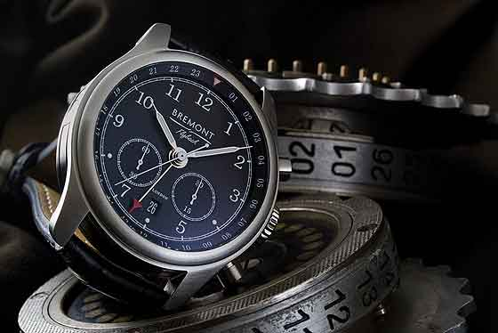 Bremont Codebreaker - front, with Enigma rotors