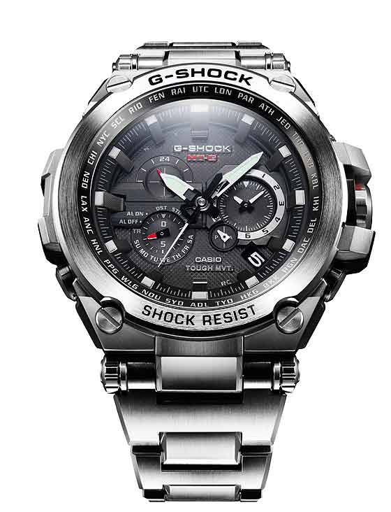 www.watchtime.com | scene  | A $1,000 G Shock? Casio Unveils That and More at 2013 Shock the World Event | Casio G Shock MT G silver front 560