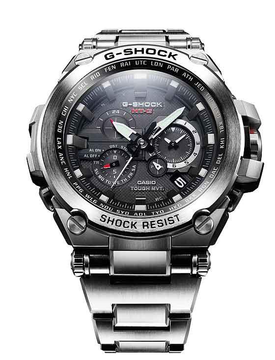 Casio G-Shock MTGS1000D-1A in steel - front