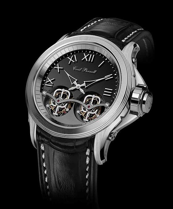 Cecil Purnell V15 Twin Tourbillon - steel