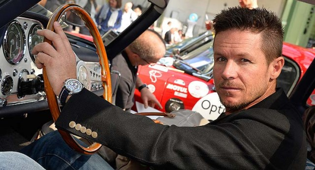 Felix Baumgartner wearing Zenith watch