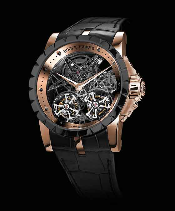www.watchtime.com | watches  | Whirlwind Romance: Three New Watches with Multiple Tourbillons (Video) | Roger Dubuis Excalibur Double Tourbillon Skeleton LE 560