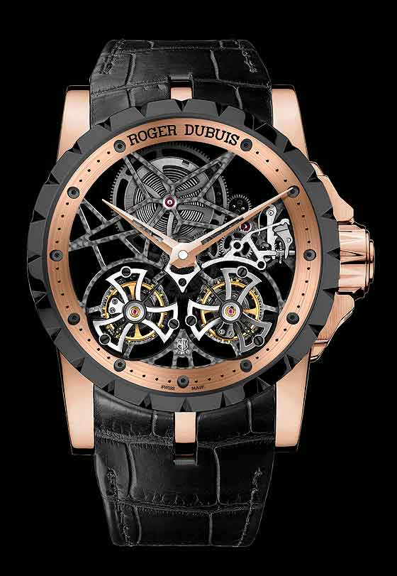 Roger Dubuis Excalibur Double_Tourbillon Skeleton LE - front
