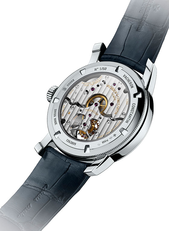 www.watchtime.com | industry  | Vacheron Constantin Adds 14 Day Tourbillon to its Platinum Collection | VC Platinum 14 Day Tourbillon back 560