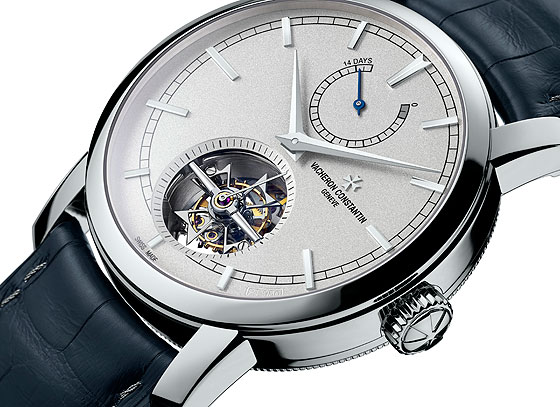 www.watchtime.com | industry  | Vacheron Constantin Adds 14 Day Tourbillon to its Platinum Collection | VC Platinum 14 Day Tourbillon side 560
