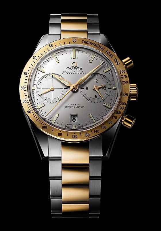 Omega Speedmaster '57 Chronograph - white dial - front