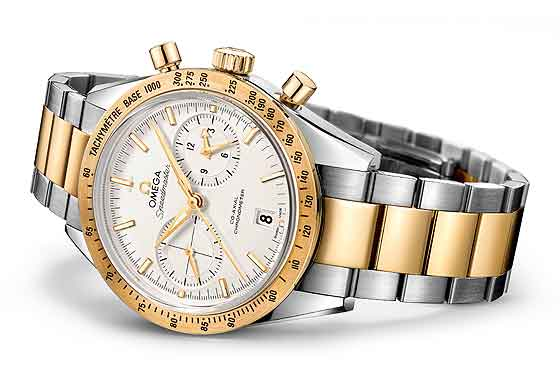 Omega Speedmaster '57 Chronograph - white dial - reclining