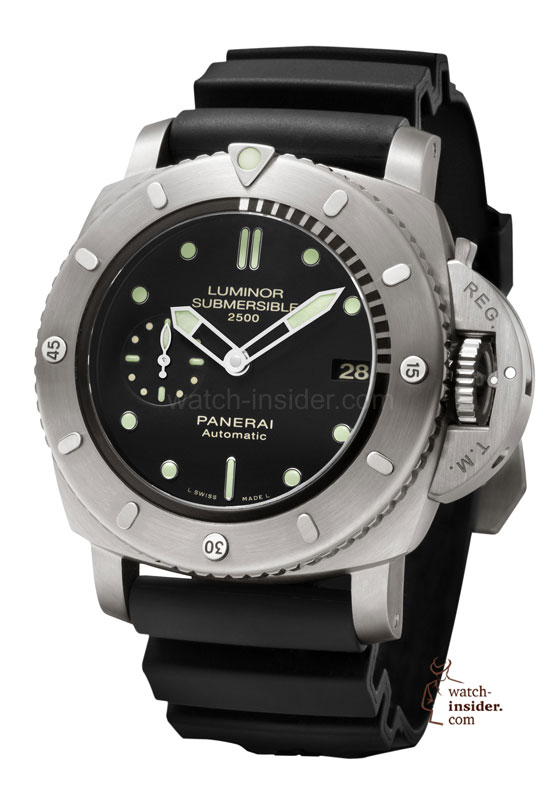 Panerai Luminor Submersible 1950 2500m 3 Days Titanio