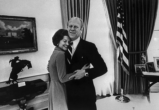Gerald Ford with his Hamilton Pulsar and his wife, Betty