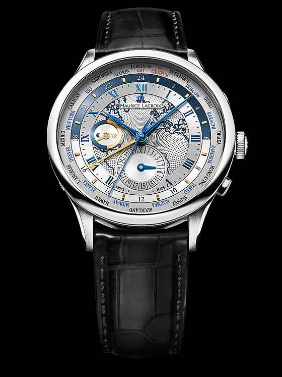 Maurice Lacroix Masterpiece Worldtimer - European with strap
