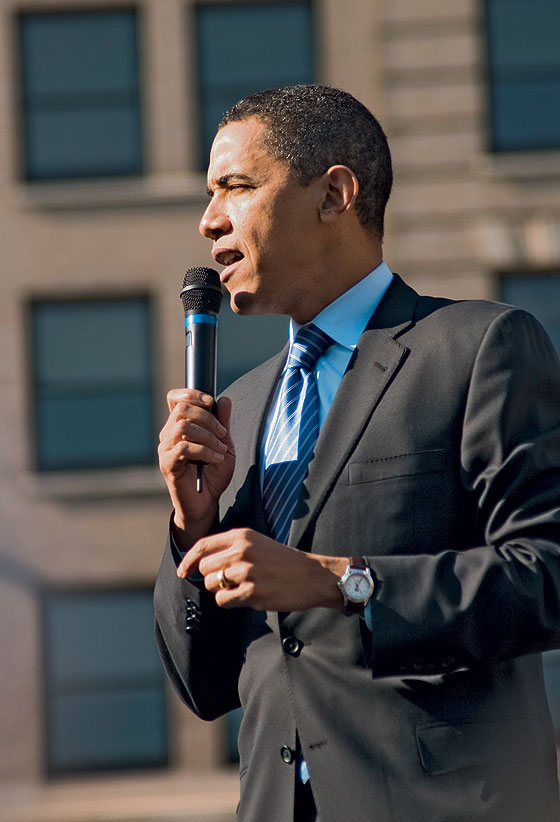 Obama wearing his TAG Heuer