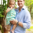 Karl Schneider, wearing a TAG Heuer Carrera Calibre 16 Day Date Automatic Chronograph, spends time with his daughter Victoria at their house in Nassau, Bahamas.