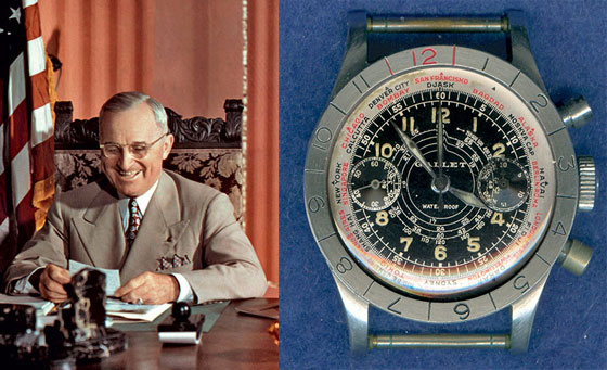Harry Truman and his Gallet Flying Officer's Chronograph