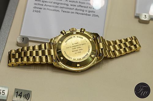 Nixon's Omega Speedmaster watch - caseback
