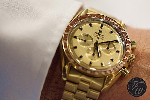 Omega Speedmaster gold - wrist shot