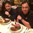 Dr. Cliffton Bong (left) and Chris Nguyen enjoy a meal at the historic Gulliver's Restaurant in Irvine, CA. Dr. Bong is wearing his IWC Mark XV while Chris is wearing his newly acquired IWC Pilot's Watch Chronograph.