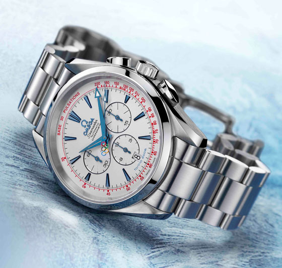 Omega Seamaster Aqua Terra Column-Wheel Chronograph from the  Limited Edition Torino 2006 Olympic Collection