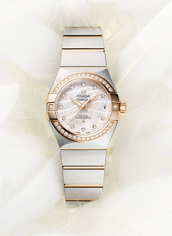 Omega Constellation Pluma white