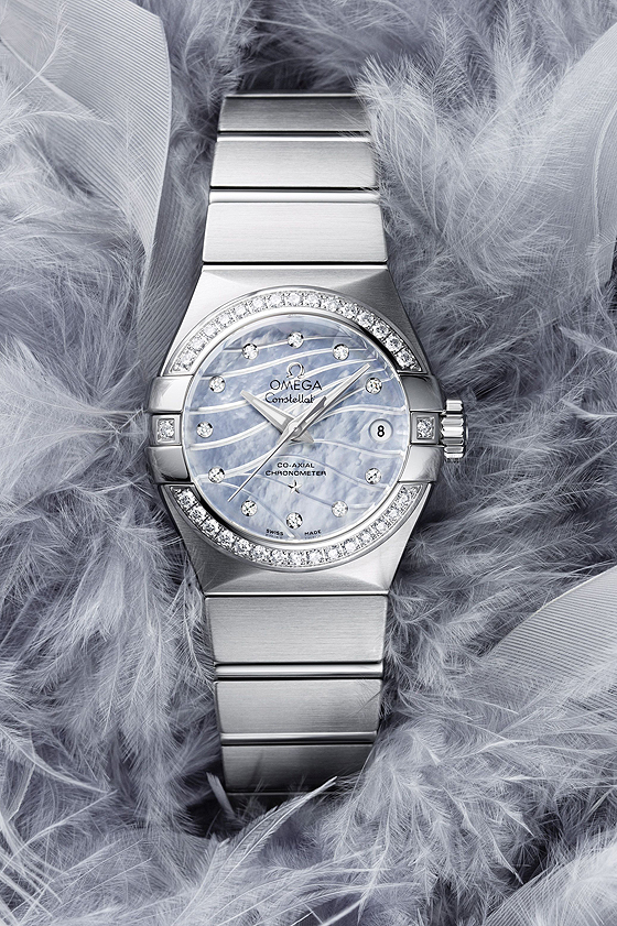 Omega Constellation Pluma blue