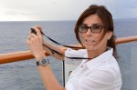 Lynn Cutolo wears a limited edition Hublot Classic Fusion while on a cruise in the Caribbean.