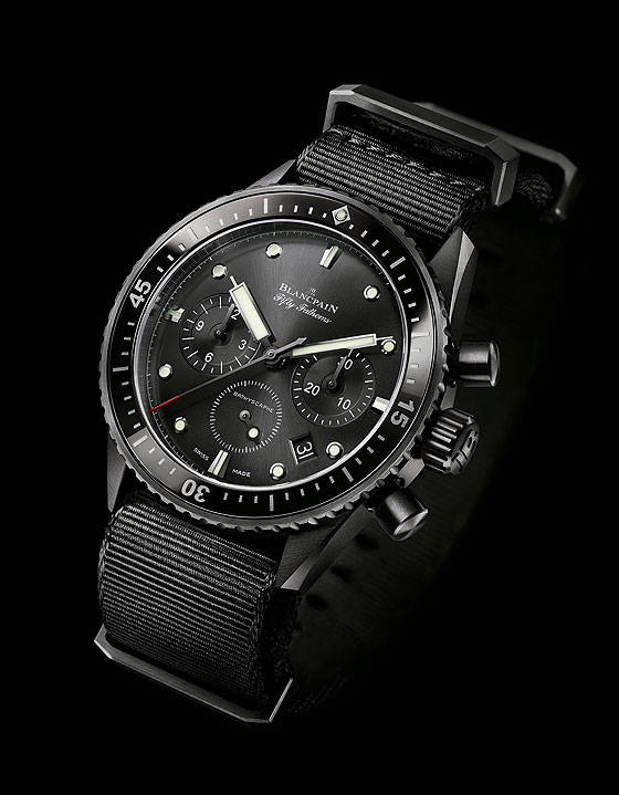 Blancpain Fifty Fathoms Bathyscaphe Flyback Chrono - angle