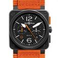 Bell & Ross BR03-94 Carbon-Orange Orange canvas strap