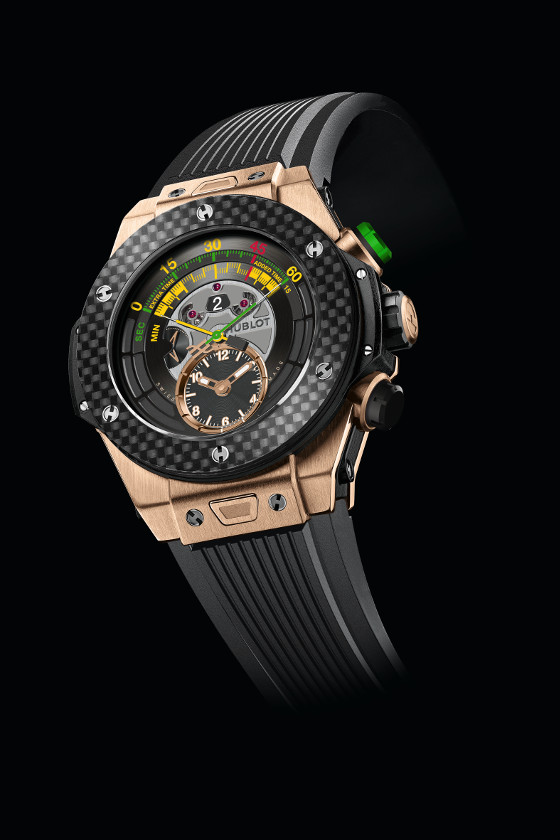 The Hublot Big Bang Unico Bi-Retrograde Chrono in King Gold