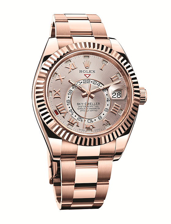 Replica Rolex Sky-Dweller in Everose Gold