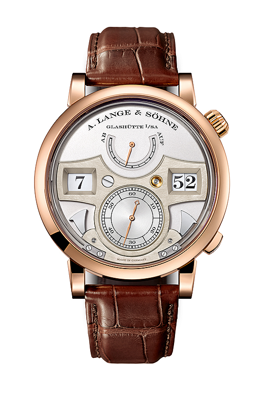 A. Lange & Sohne Zeitwerk Striking Time rose gold