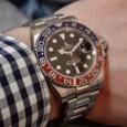 Rolex GMT-Master II - Pepsi-blue-red-wristshot