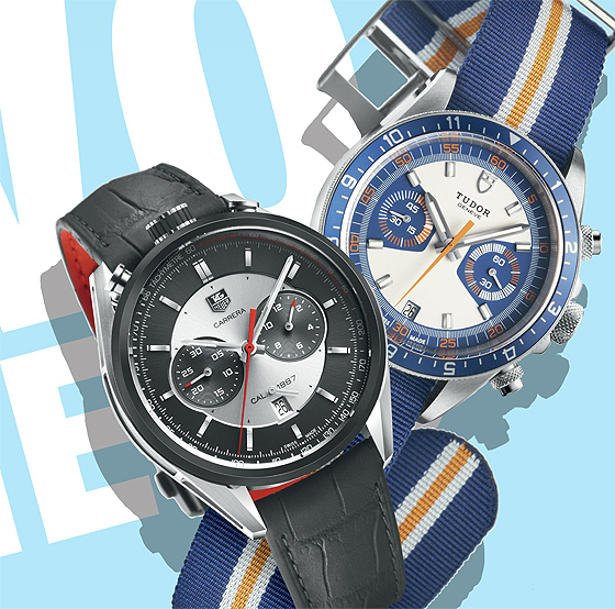 TAG Heuer Carrera Calibre 1887 vs. Tudor Heritage Chrono Blue