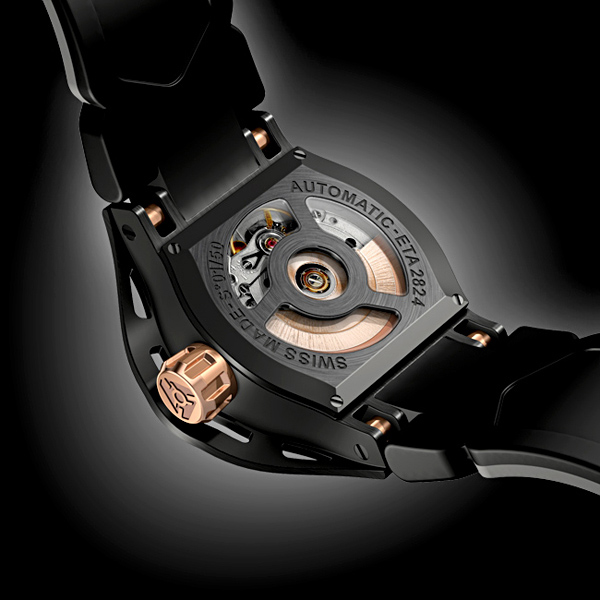 Wryst Automatic Sport Watch 2824 - back
