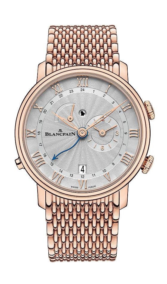 Blancpain Villeret Reveil GMT - gold bracelet