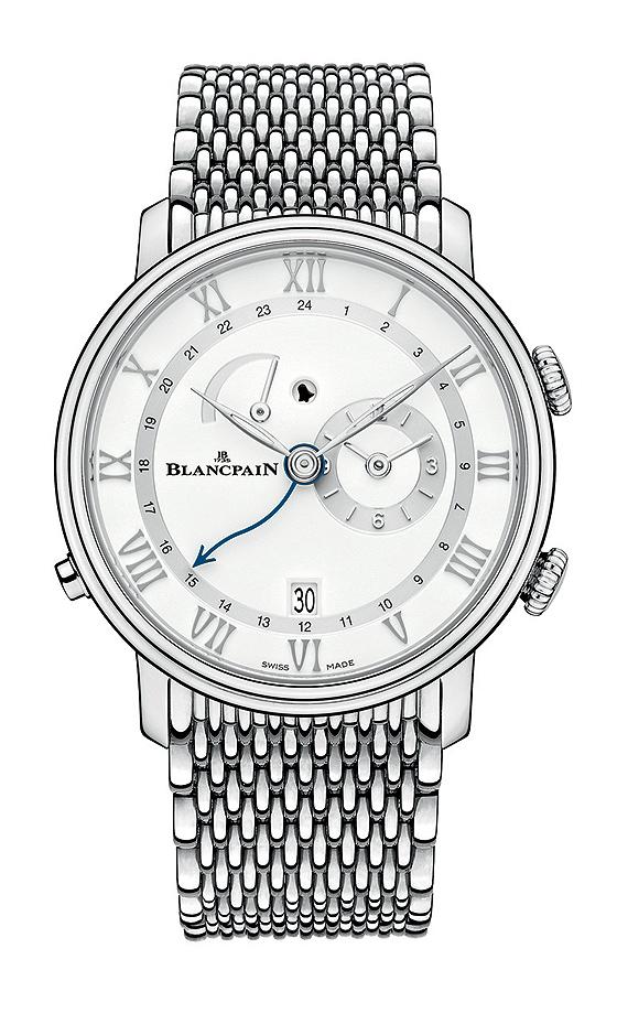 Blancpain Villeret Reveil GMT steel bracelet