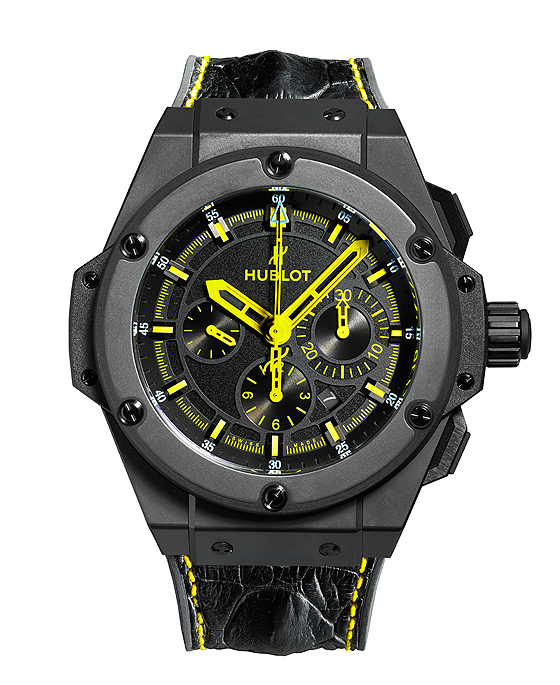 Hublot King Power 692 Bang - black strap front