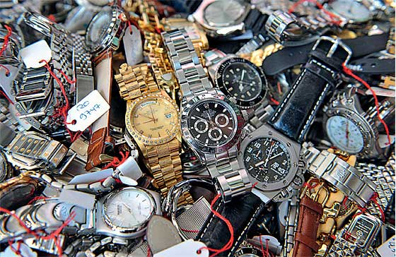 Confiscated Counterfeit Watches