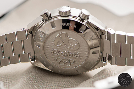 Omega Speedmaster Mark II Rio 2016 - back