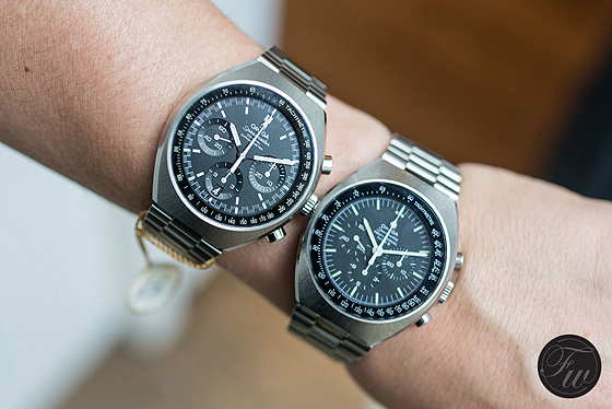 Omega Speedmaster Mark II vintage vs. new - on wrist