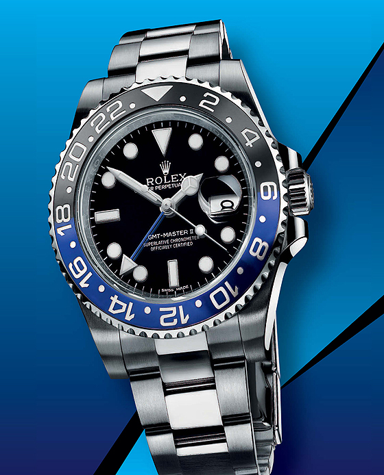 Rolex GMT-Master II - black-blue bezel - front
