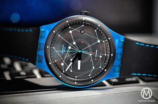 Swatch Sistem51 blue - reclining