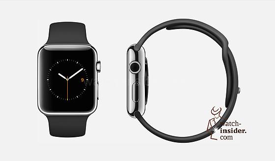 Apple Watch - black rubber strap