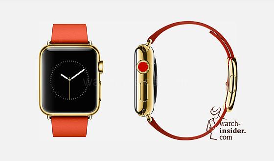 Apple Watch - gold, orange strap