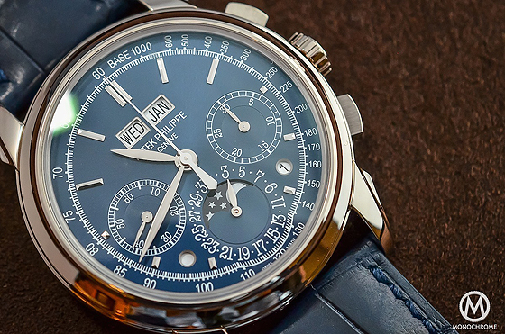 Patek Philippe 5270 Perpetual Calendar Chronograph Blue - dial cu