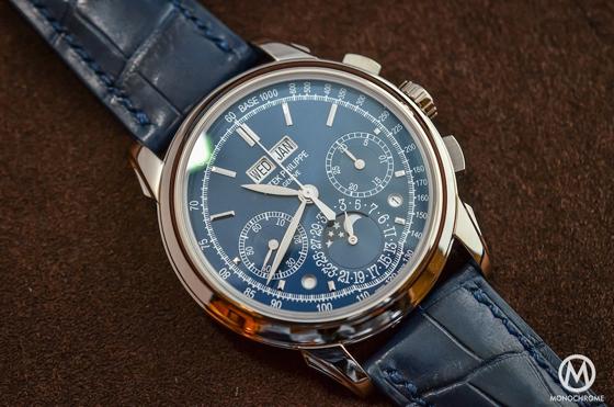Patek Philippe 5270 Perpetual Calendar Chronograph Blue - front